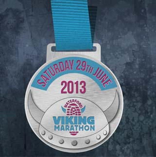 waterford viking marathon medal 2013