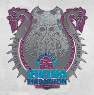 waterford viking marathon medal 2016